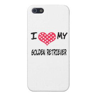 私は私のゴールデン・リトリーバーを愛します iPhone 5 CASE