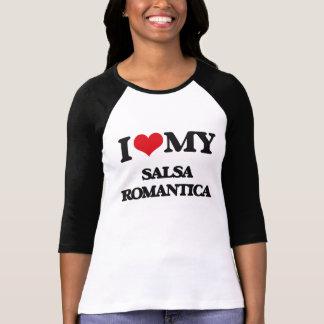 私は私のサルサROMANTICAを愛します Tシャツ
