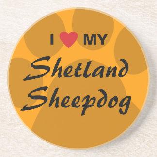 私は私のシェットランド・シープドッグPawprintを愛します コースター