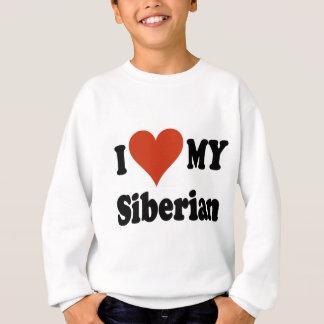 私は私のシベリア猫の商品を愛します スウェットシャツ