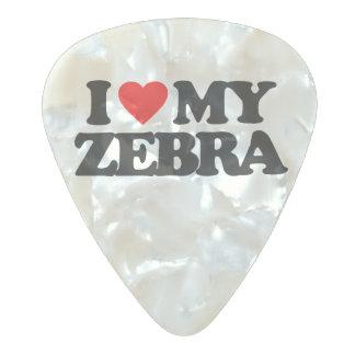 私は私のシマウマを愛します パールセルロイド ギターピック