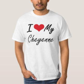 私は私のシャイエンヌを愛します Tシャツ