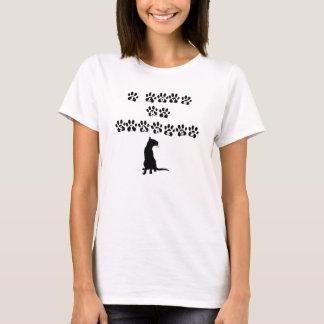 私は私のシャムを愛します--黒い文字 Tシャツ