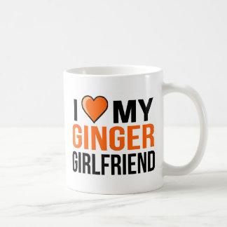 私は私のショウガのガールフレンドを愛します コーヒーマグカップ