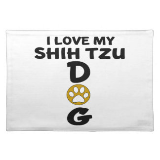 私は私のシーズー(犬)のTzu犬のデザインを愛します ランチョンマット