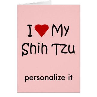 私は私のシーズー(犬)のTzu犬の品種恋人のギフトを愛します カード