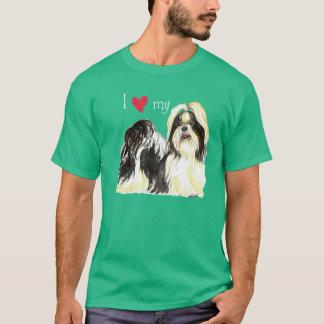 私は私のシーズー(犬) Tzuを愛します Tシャツ