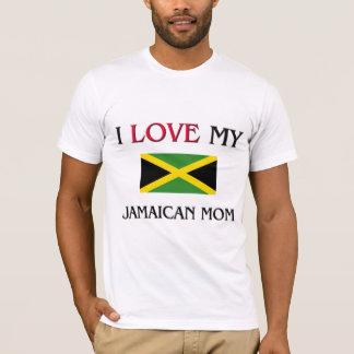 私は私のジャマイカのお母さんを愛します Tシャツ