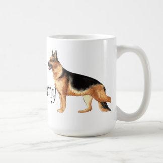 私は私のジャーマン・シェパードを愛します コーヒーマグカップ