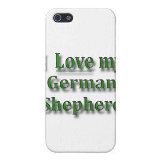 私は私のジャーマン・シェパードを愛します iPhone 5 カバー