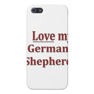 私は私のジャーマン・シェパードを愛します iPhone 5 ケース