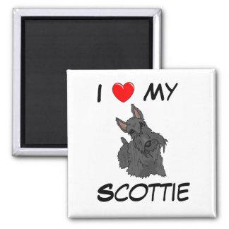 私は私のスコッチテリアの磁石を愛します マグネット