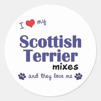 私は私のスコットランドテリアを混合します愛します(多数犬) ラウンドシール