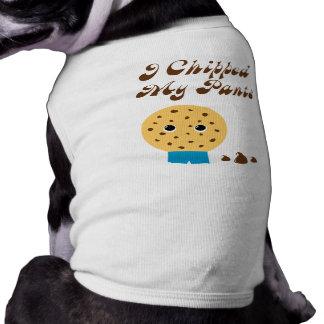 私は私のズボンのチョコチップクッキーを欠きました ペット服