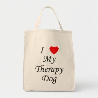 私は私のセラピー犬を愛します トートバッグ