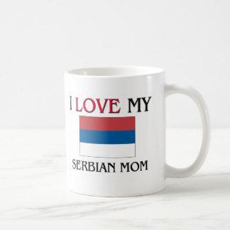 私は私のセルビアのお母さんを愛します コーヒーマグカップ
