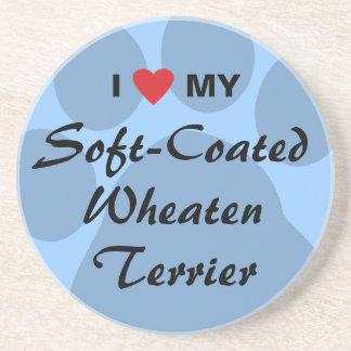 私は私のソフト上塗を施してあるWheatenテリアを愛します コースター
