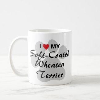 私は私のソフト上塗を施してあるWheatenテリアを愛します コーヒーマグカップ