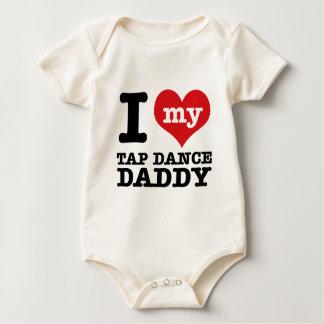 私は私のタップダンサーのお父さんを愛します ベビーボディスーツ