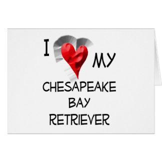 私は私のチェサピーク・ベイ・レトリーバーを愛します カード