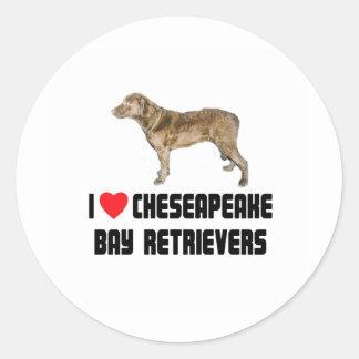 私は私のチェサピーク・ベイ・レトリーバーを愛します ラウンドシール