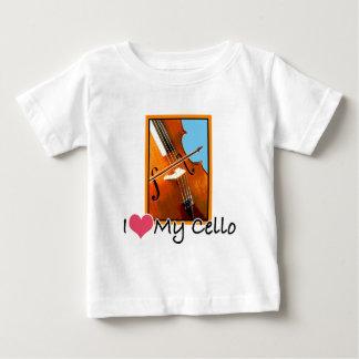 私は私のチェロを愛します ベビーTシャツ