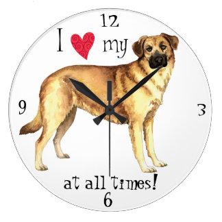 私は私のチヌックを愛します ラージ壁時計