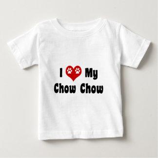 私は私のチャウチャウを愛します ベビーTシャツ