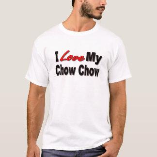 私は私のチャウチャウを愛します Tシャツ