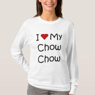 私は私のチャウチャウ犬の品種ギフトおよび服装を愛します Tシャツ