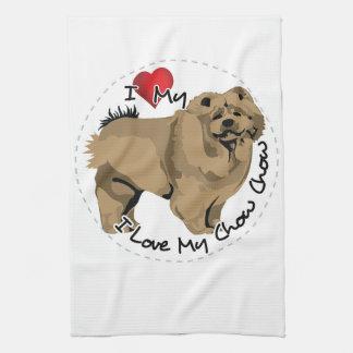 私は私のチャウチャウ犬を愛します キッチンタオル