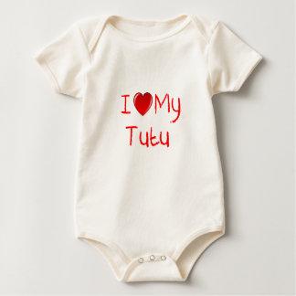 私は私のチュチュの幼児幼児のTシャツを愛します ベビーボディスーツ