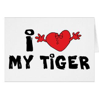 私は私のトラを愛します カード