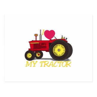 私は私のトラクターを愛します ポストカード