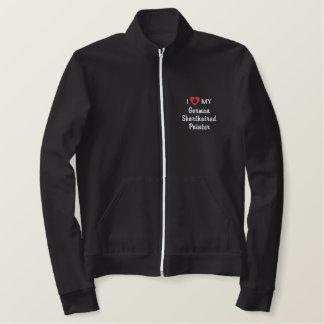 私は私のドイツShorthairedポインターを愛します 刺繍入りジャケット