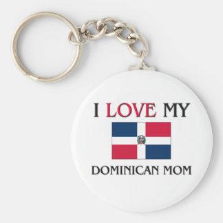 私は私のドミニコ共和国のお母さんを愛します キーホルダー
