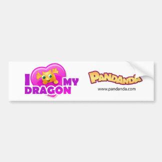 私は私のドラゴンのバンパーステッカーを愛します バンパーステッカー