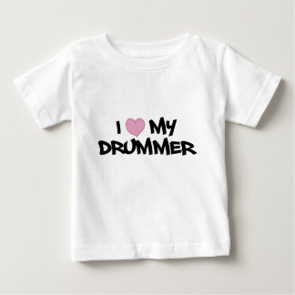 私は私のドラマーを愛します ベビーTシャツ