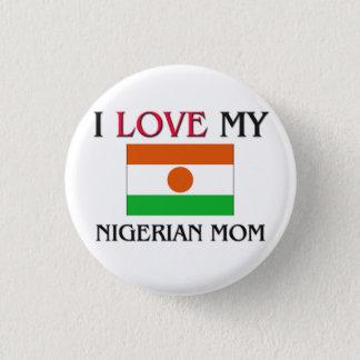 私は私のナイジェリアのお母さんを愛します 3.2CM 丸型バッジ