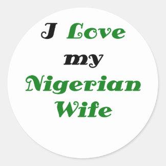 私は私のナイジェリアの妻を愛します ラウンドシール