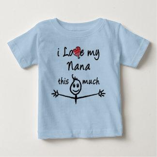 私は私のナナを愛します! (祖父) ベビーTシャツ