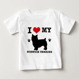 私は私のノリッジテリアを愛します ベビーTシャツ