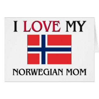 私は私のノルウェーのお母さんを愛します カード