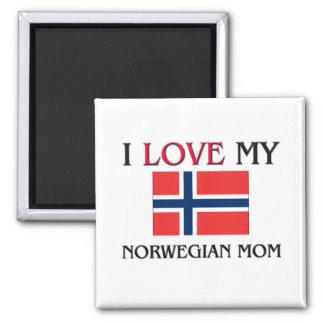 私は私のノルウェーのお母さんを愛します マグネット