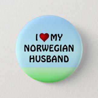 私は私のノルウェーの夫のpinbackボタンを愛します 缶バッジ