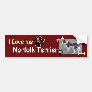 私は私のノーフォークテリアのバンパーステッカーを愛します バンパーステッカー
