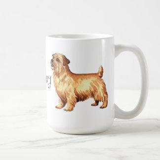 私は私のノーフォークテリアを愛します コーヒーマグカップ