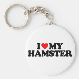 私は私のハムスターを愛します キーホルダー