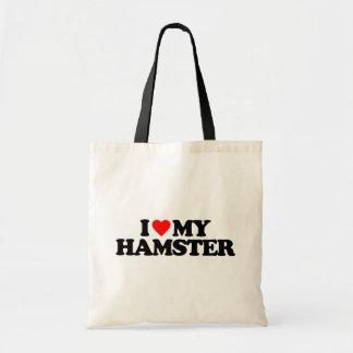 私は私のハムスターを愛します トートバッグ