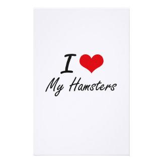 私は私のハムスターを愛します 便箋